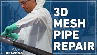 How to Stop a Pipe Live Leak with Belzona 3D Mesh