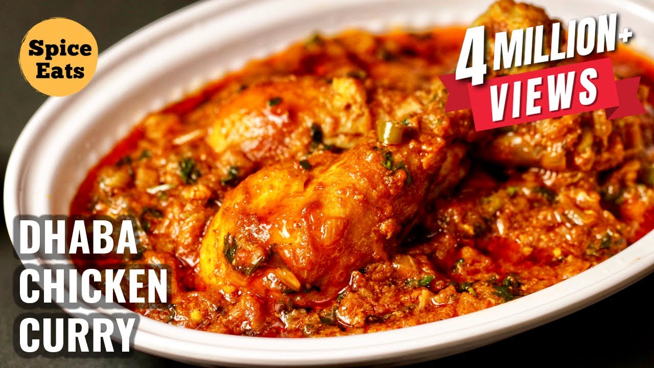 Dhaba Chicken Curry Recipe Desi Style Chicken Curry Recipe