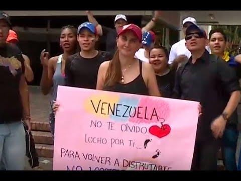 Desde Colombia, venezolanos rechazan elecciones presidenciales en su país | Noticias Caracol