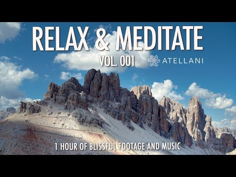 Relaxing Screensaver Mountains + Spa Music 1 HOUR Relaxation Aerial Drone Film music