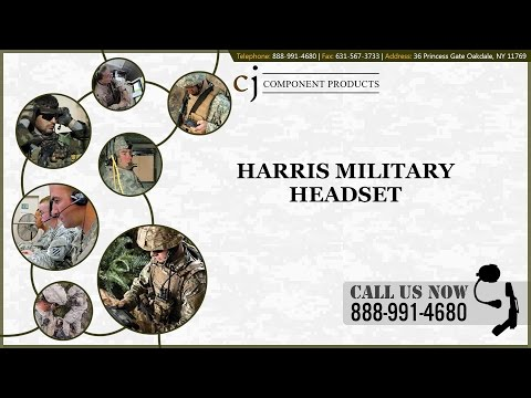 Harris Military Headsets From CJ Component Products, LLC