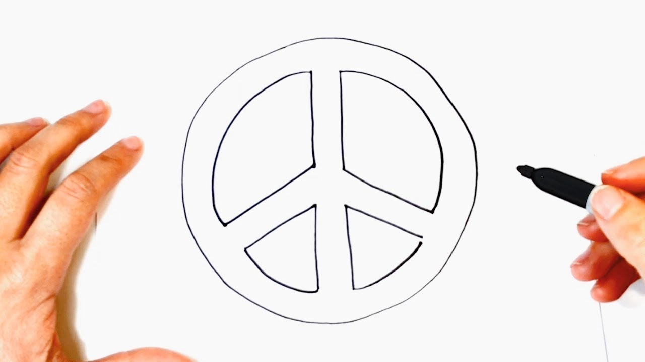 How To Draw Peace Symbol Peace Symbol Easy Draw Tutorial Youtube