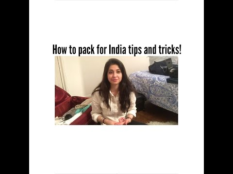 Travel Vlog 1! Tips and Tricks for packing for India!