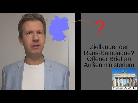 Offener Brief an Außenministerium: Zielländer der Raus-Kampagne?