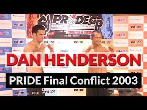 Dan Henderson PRIDE Final Conflict 2003 (rare behind the scenes footage)