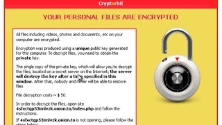 "How to remove Cryptorbit/Bitcrypt virus and ""HOWDECRYPT"" your encrypted files for FREE"