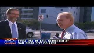 First day of classes at San Diego City College - President Anthony Beebe Interviewed