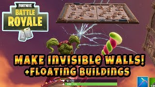 Fortnite Invisible Wall Glitch, Make floating Traps / Bounce Pads (Seulement fonctionne sur Patch 5.1)