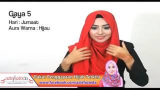 Hijab Tutorial : 1 shawls 7 gaya by azie fazieda