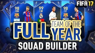 FULL TOTY SQUAD BUILDER! w/ 99 Ronaldo, 98 Suarez & 98 Messi! - #FIFA17 Ultimate Team