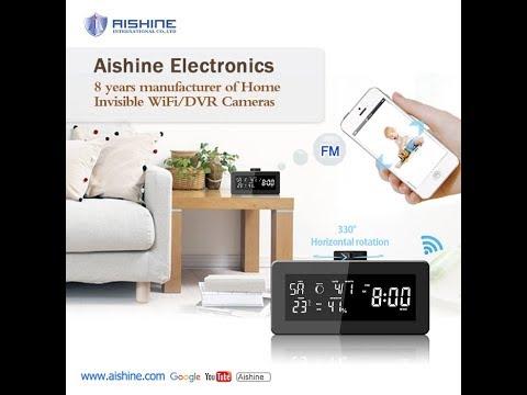 HD 1080p wifi weather station radio rotating camera---Aishine security