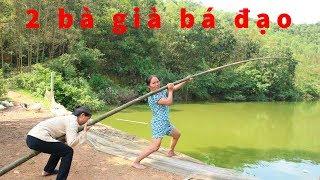 Bà già 61 tuổi_Thử câu cá bằng cần câu khổng lồ lớn nhất thế giới sẽ NTN