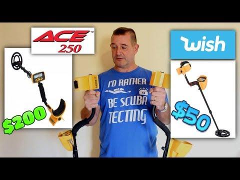 $50 Wish Metal Detector VS $200 Garrett Ace 250 Metal Detector