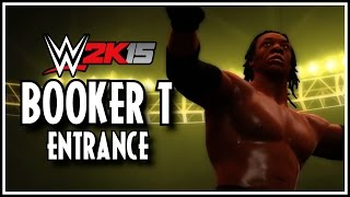 WWE 2K15 - Booker T Entrance, Finisher, Winning Scene & Spinaroonie!