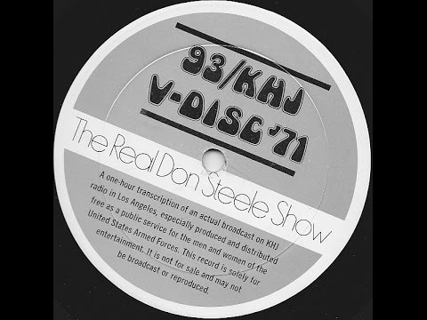 V-Disc 1971 the REAL Don Steele 93 KHJ AM Radio Los Angeles Aircheck Vietnam War