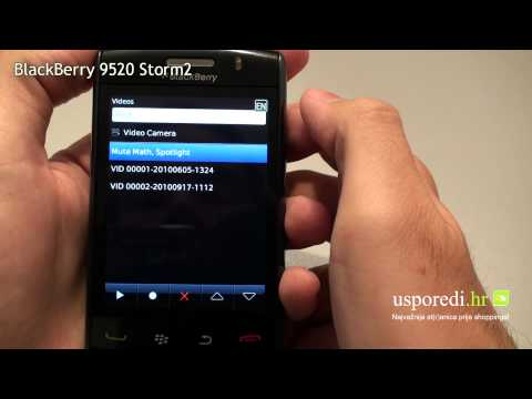 BlackBerry 9520 Storm video music player