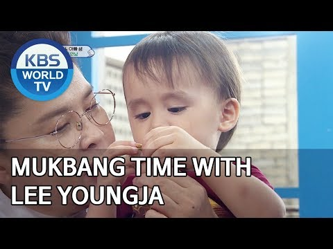 Bentley and William's Mukbang time with Lee Youngja [The Return of Superman/2019.10.27]