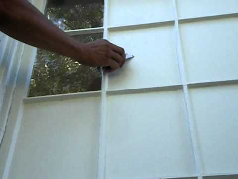 How To Paint Large Windows With Lots Of Glass Panes Youtube