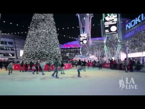 Holiday Ice Rink Opens at L.A. LIVE