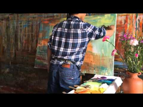 Abstract Landscape Painting by GeorgeMiller, Acrylic Painted with a Palette Knife