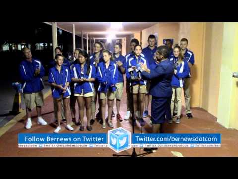 Bermuda's CARIFTA Swimming Team Return Home, April 9 2015