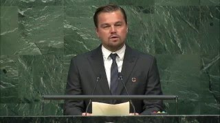 leonardo dicaprio high level signature ceremony for the paris agreement