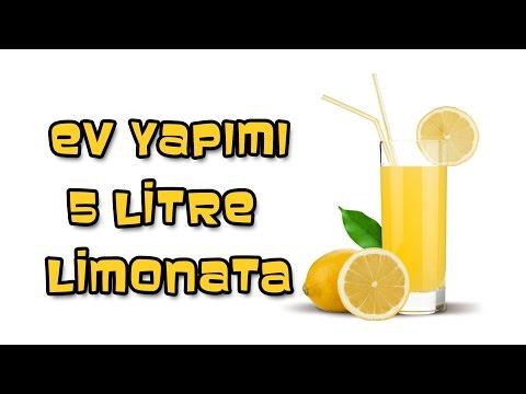 2 Limon 1 Portakalla 5 Litre Limonata-Mutlaka Denemelisin !!!