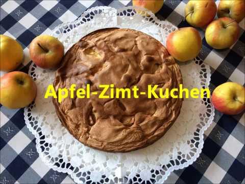 Apfel Zimt Kuchen Apfelkuchen Einfach Youtube
