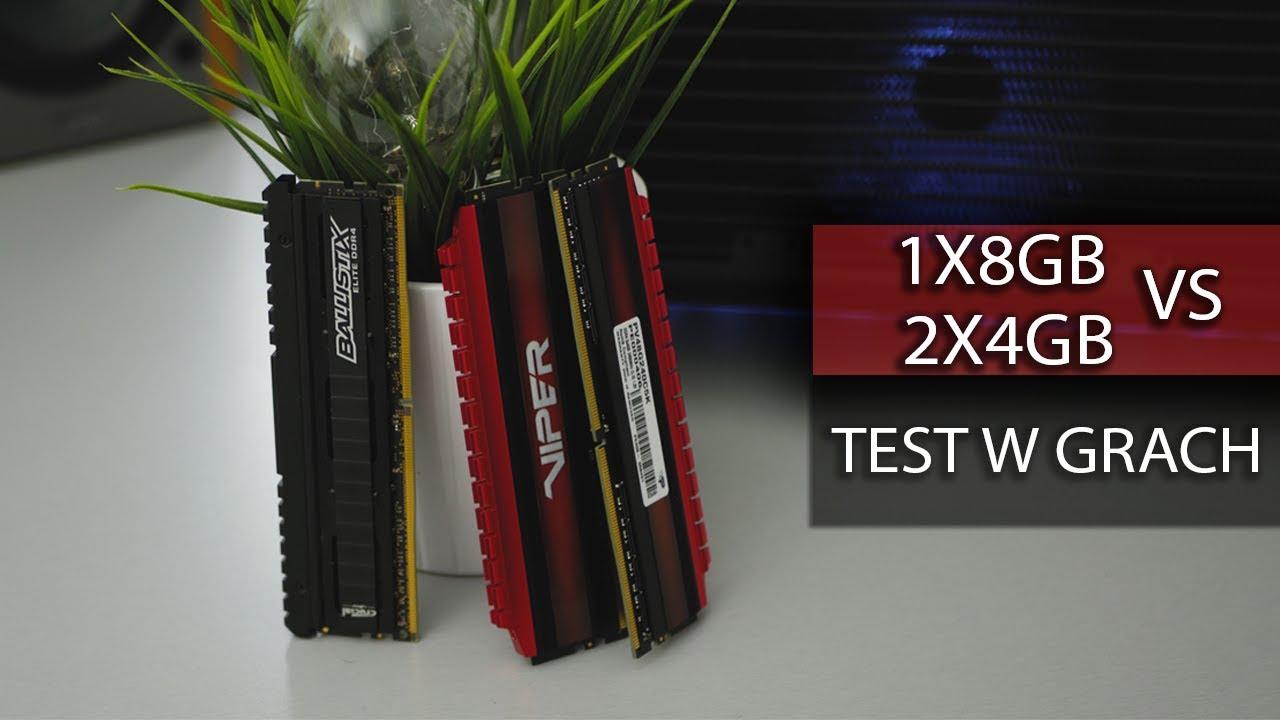 Pamięć RAM 1x8GB czy 2x4GB do taniego komputera?