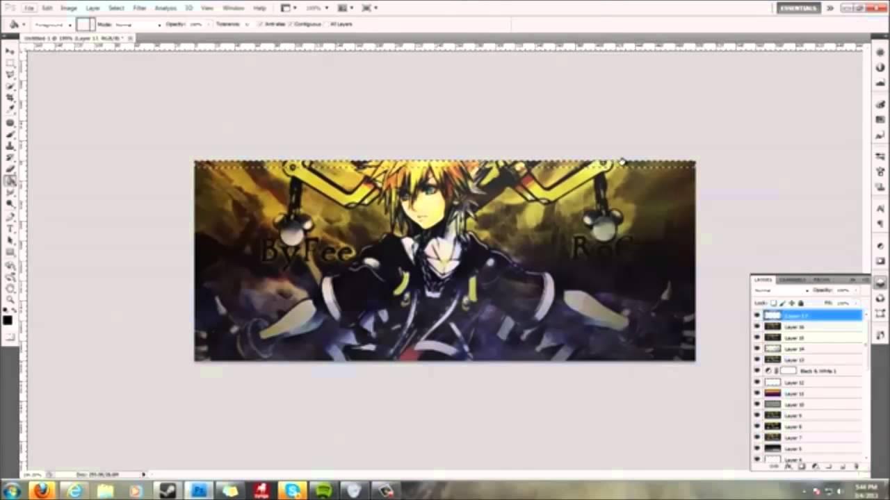 Photoshop tutorial signature borders youtube baditri Images
