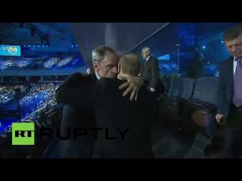Russia: See Putin and friends visit Sochi's 'Year after Olympics' ice show