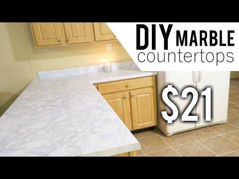 DIY MARBLE COUNTERTOPS | BUDGET FRIENDLY MARBLE COUNTERTOPS