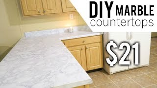 DIY MARBLE COUNTERTOPS | BUDGET FRIENDLY MARBLE COUNTERTOPS