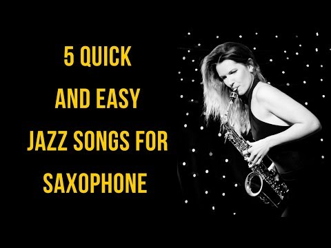 5 Quick & Easy Jazz Tunes you should know 🎶  saxophone lessons / tutorials