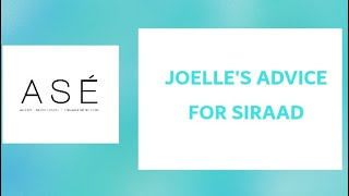 PCC: Joelle's advice for Siraad