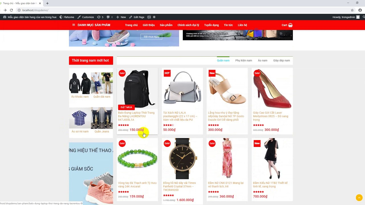 Source code website shop thời trang wordpresss chuẩn seo