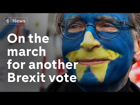Hundreds of thousands of people march for another Brexit vote