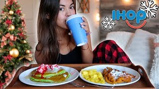 IHOP NEW HOLIDAY PANCAKES BREAKFAST MUKBANG! | Steph Pappas