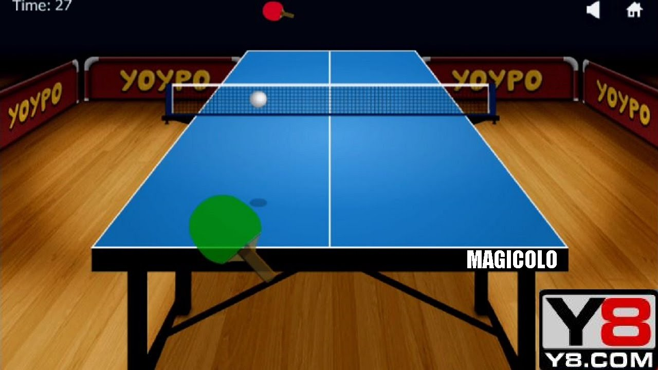 Y8 Games To Play >> Y8 GAMES TO PLAY - Y8 Yoypo Table Tennis gameplay 2016 - YouTube