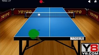 Y8 GAMES TO PLAY - Y8 Yoypo Table Tennis gameplay 2016