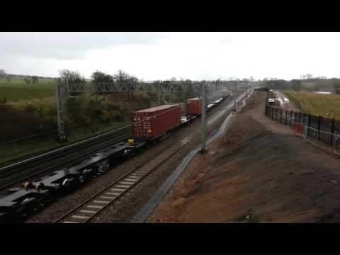 First Day Norton Bridge Flyover Freight Line at Hemmies Farm