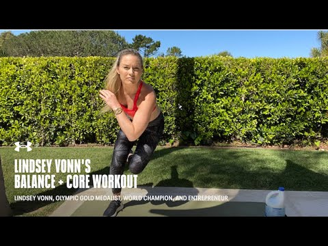Balance + Core Workout with Lindsey Vonn