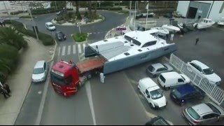 Launching the first Outremer 4X...