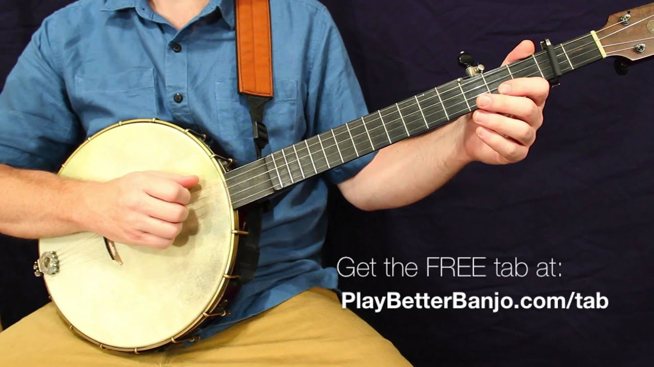 Cherokee Shuffle - Clawhammer Banjo Full Free Lesson & Tab