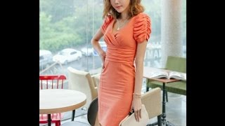 Платье с драпировкой по лифу и по рукавам.  Моделирование.