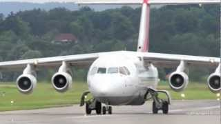 Avro Regional Jet RJ85 Take Off at Airport Bern-Belp