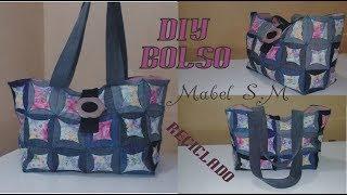 Cómo hacer un bolso con retazos de telas (reciclado)