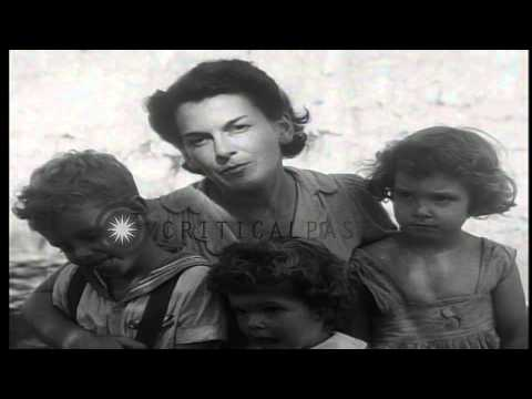 William Moule narrates their life in Manila,Philippines during World War 2 HD Stock Footage