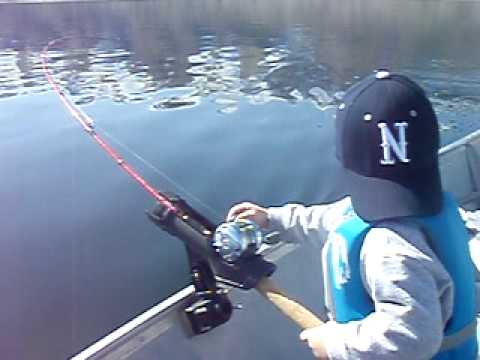 Peyton 39 s first fish all on his own topaz lake for Topaz lake fishing report