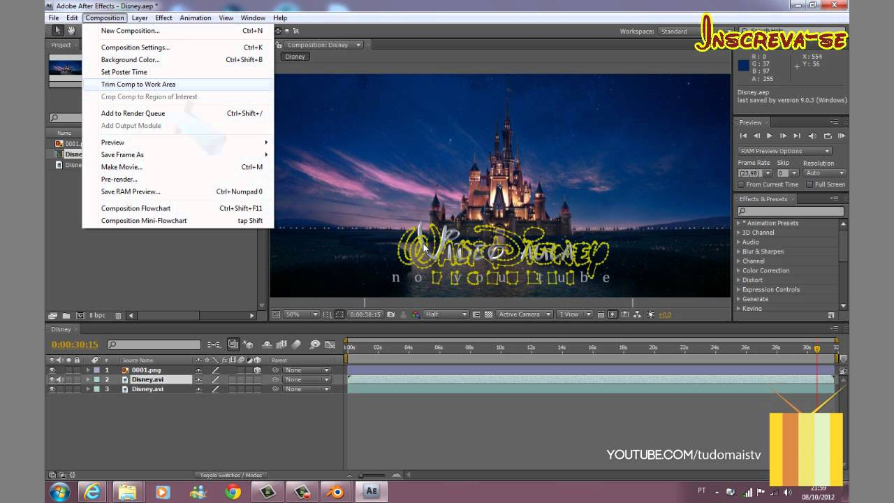 tutorial disney intro hd ptbr youtube